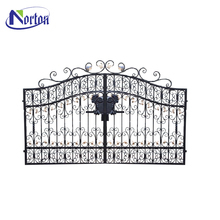 quality assured strong custom designed wrought iron folding gate NT--WI004J