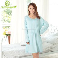 breathable cotton material smooth wholesale nightshirts