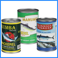155g Chinese famous seafood mackerel in can