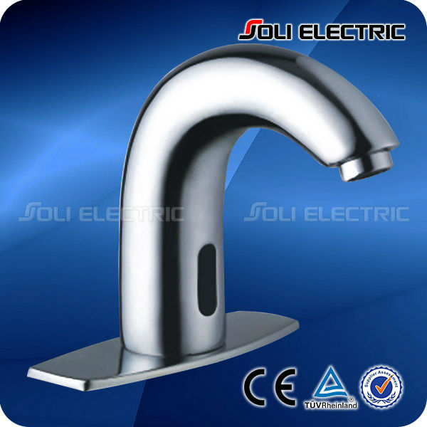 Touch-Free Lavatory Bathroom Automatic Sensor Sink Faucet
