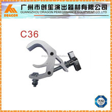 Aluminum clamp for stage lighting