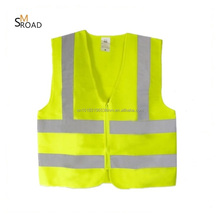 fluorescent motorcycle logo printed EN20471 ansi printed high visibility safety reflective vest