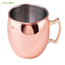 Wholesale 16oz custom moscow mule solid copper mug