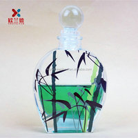 100ml decal logo aroma diffuser glass bottles with glass ball cork