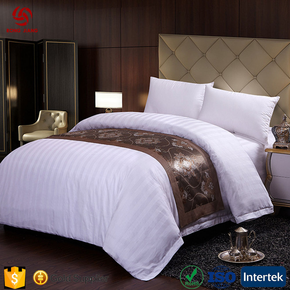 Custom 100% Cotton 60s Sateen Bed Linen Luxury Hotel Bed Cover Sheet White