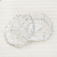 Snowflake shape design glass jewelry box lovely small glass box for decorative