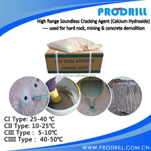 Quality High Range Soundless Cracking Agent , Non Explosive Demolition Agent
