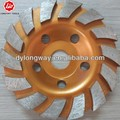 "125mm flower type 5""granit cup grinding wheel,segment diamond cup wheel,cup shaped grinding wheels for concrete."