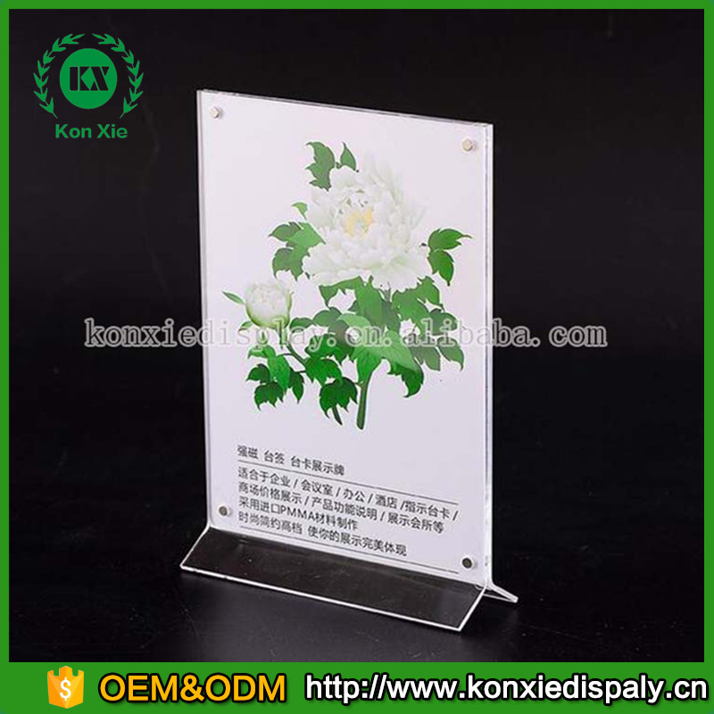Acrylic card menu stand, acrylic paper display holder