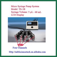 Syringe Pump System, Model: TS-1B, Four Channels, accurate stroke control and broad linear speed range