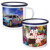 Chinese Suppliers Personalised Enamel Coffee Cup Sublimation Mug with Black Rim