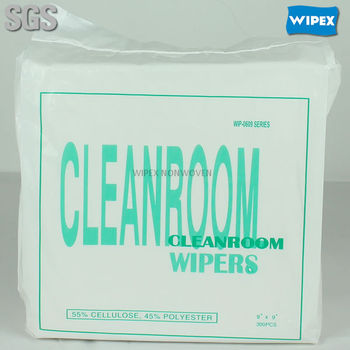 Most valuable disposable nonwoven microfiber cleanroom wipe
