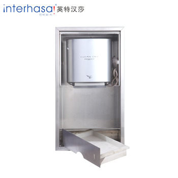 Insert wall 304 stainless steel hand dryer mini combination sideboard
