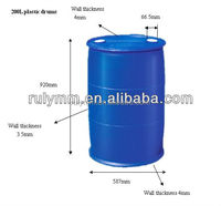 Blue plastic drum 200 litre for storage water