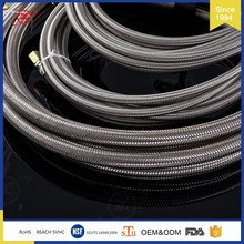 HY-002 SS braided oil cooler hose lines assembly teflon fuel line tube