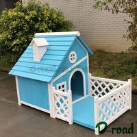 Competitive Price Water Proof Painting Wood Dog House With Balcony