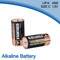 alkaline Am2 c size r14 battery 1.5v