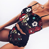 Fashion Beautiful Transparent Mesh Lace Ladies Slip Tank Tops Womens Underwear Girls Net Bra Panty Embroidery Sexy Lingerie Set