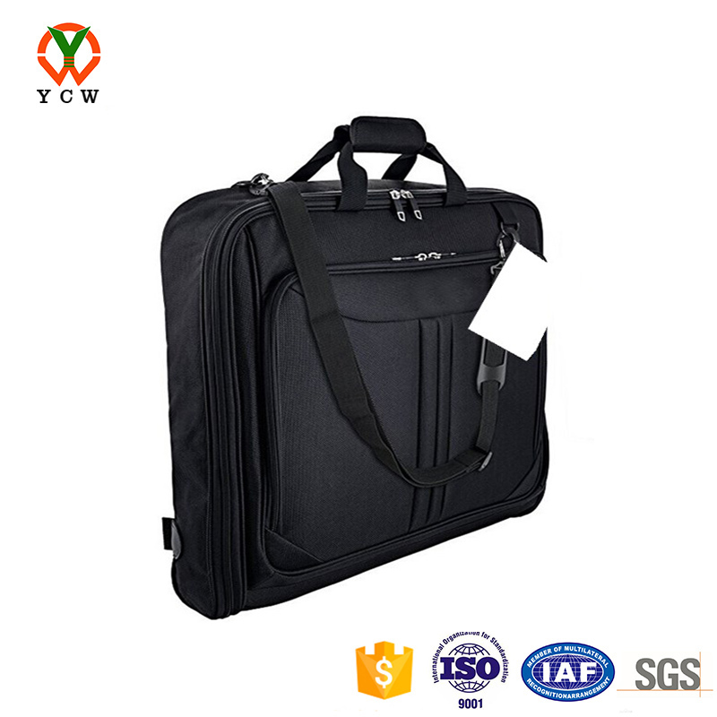 custom foldable multiple organizer pockets 3 suit carry on travel garment bag