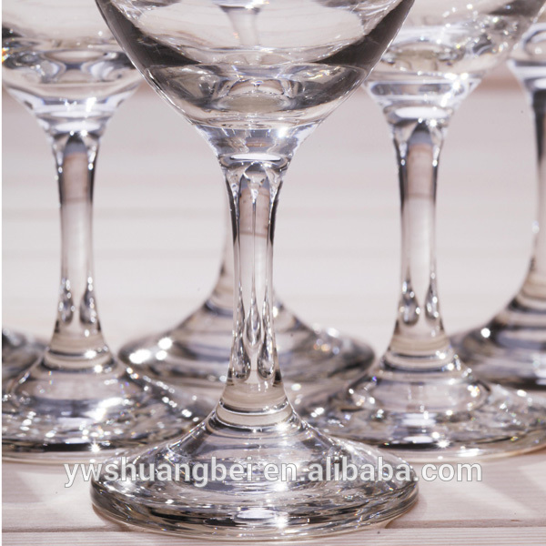 Hot selling thick banquet glass goblets with low price Water glass Glblets Drinking Glassware