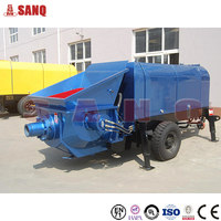 Factory Supply 30m3/h small portable trailer mounted concrete pump for sale