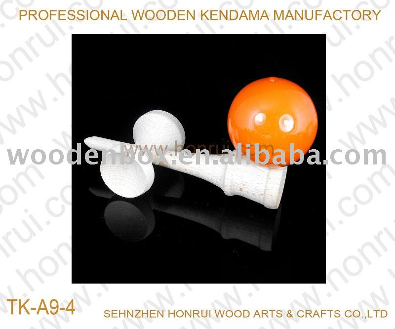 Traditional wooden kendama toy