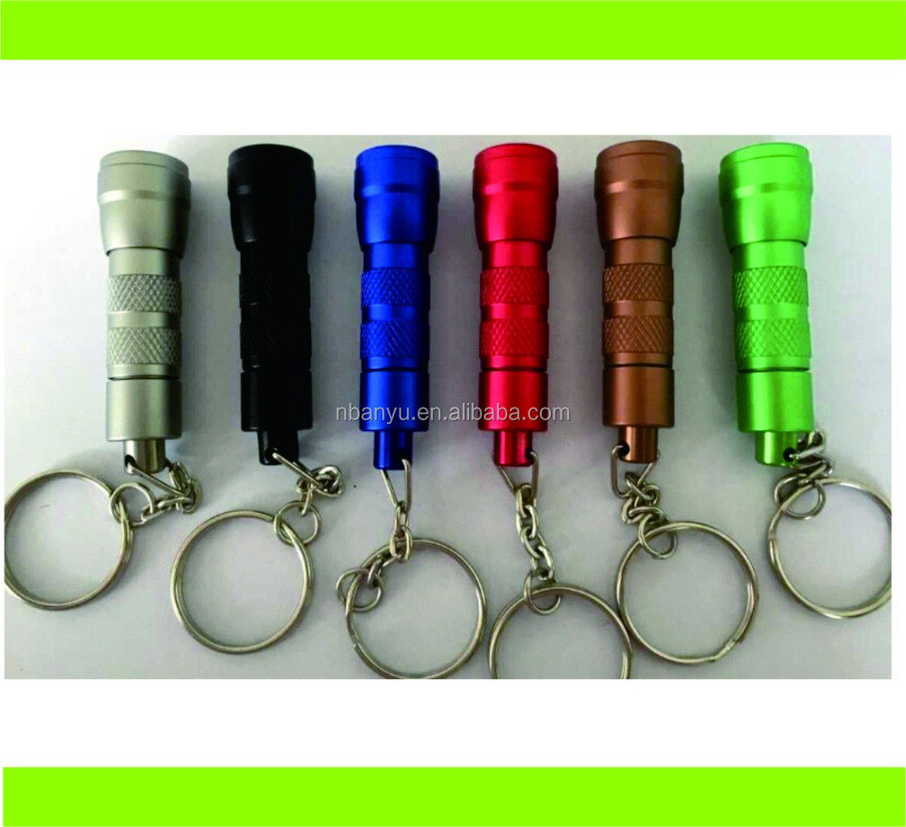 Metal Aanyu luminum LED Key Chain Mini Flashlight Keychain Light Torch LED Keyring