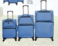 extremely durable lightweight softside trolley luggage and suitcase set