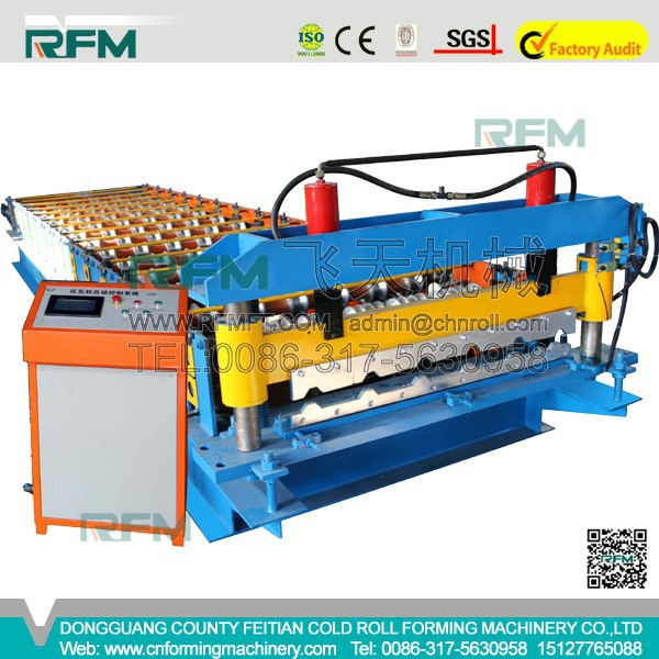 2015 Feitian Hot Sale !!! Nigeria Type Roof Tile Roll Forming Machine Made in Botou
