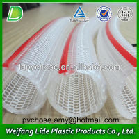 no-toxic 3 layers clear pvc knitted hose pipe