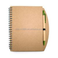 OEM promotional eco notebook with ballpoint pen set