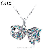 OUXI colorful big eyes fish shaped fashion jewelry for wholesale 10181