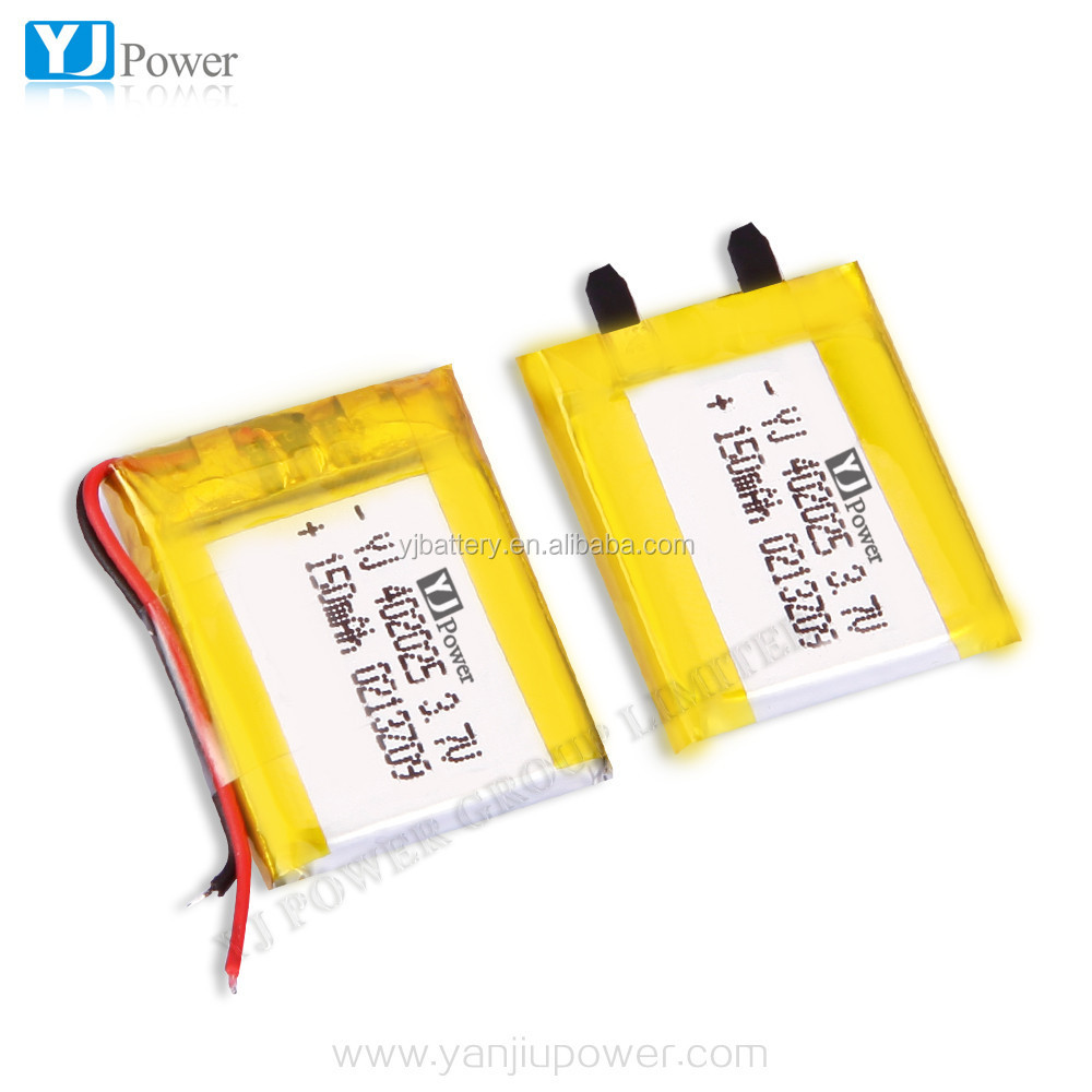 150mah small capacity 3.7v li-polymer battery 402025 Bluetooth polymer lithium