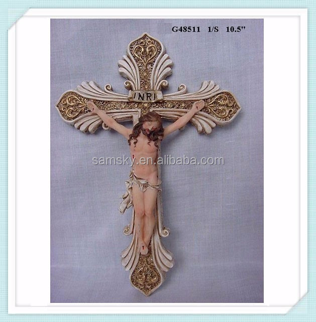 Resin wall religious crosses types
