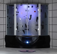 G160 Bath Tub Steam Room Sales Steam Engine Model Led Light Shower Steam Shower Room With Sauna And Massage Bathtub