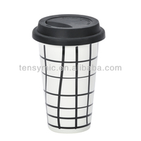 300ML take away decal-printing porcelain advertising mug