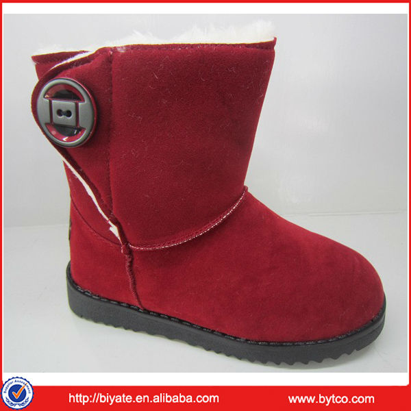 New Design Winter Beautiful Girls Snow Boots