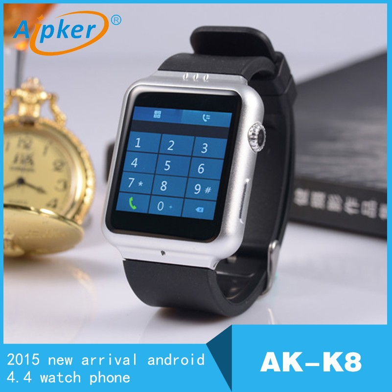 3G WIFI GPS K8 android 4.4 smart watch phone MTK6572