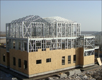 high standard steel structure prefabricated living house