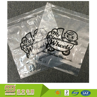 High quality custom logo printed eco-friendly self seal flap tape clear poly bag