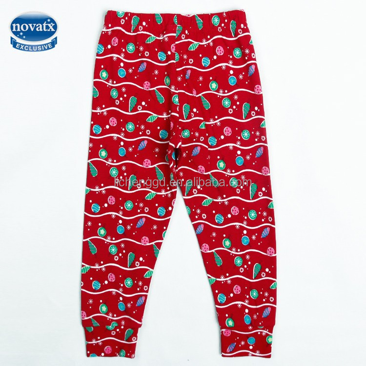 (G5761) new arrival casual style kids flower printed girls leggings 100% cotton with warm fabric