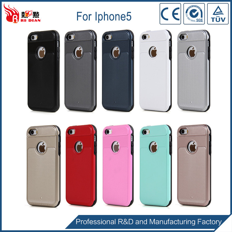 Fast delivery sublimation plastic pc tpu case for iphone 5,housing black gold for iphone5