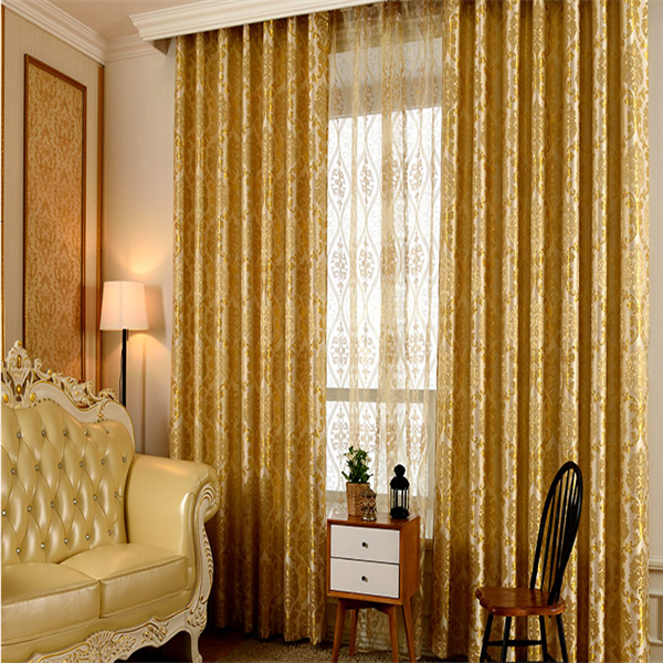 luxury ready made blackout curtain with pattern fabric for home decor