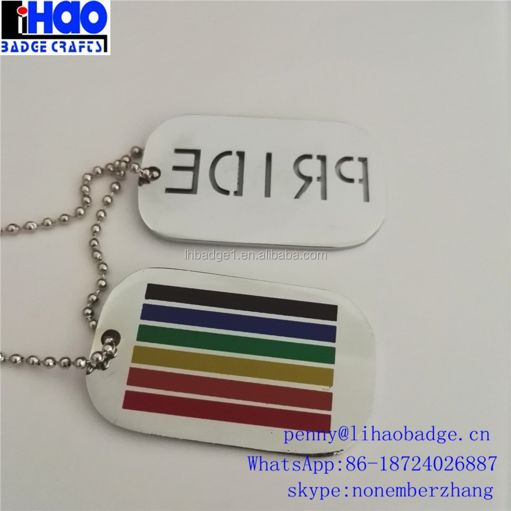 Customized human metal dog tag with cheap factory price