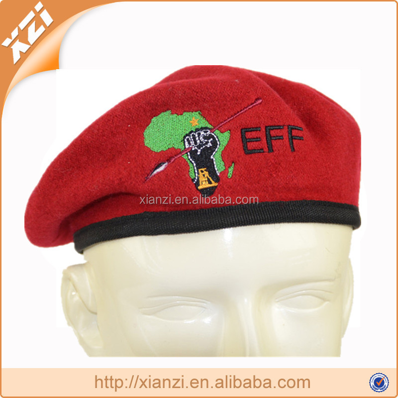 plain dyed custom military beret air force red beret