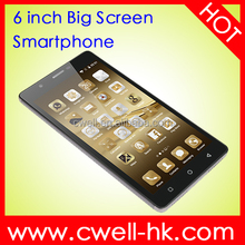 6 inch big touch screen mobile phone Android 5.1 RAM 1GB ROM 8GB Dual Sim Card 3G GPS Unlocked Cheap Smartphone