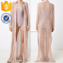 Nude Cotton Sheer Maxi Beach Dress Latest New Design Women Clothing Wholesaler China Guangdong(TS1385D)