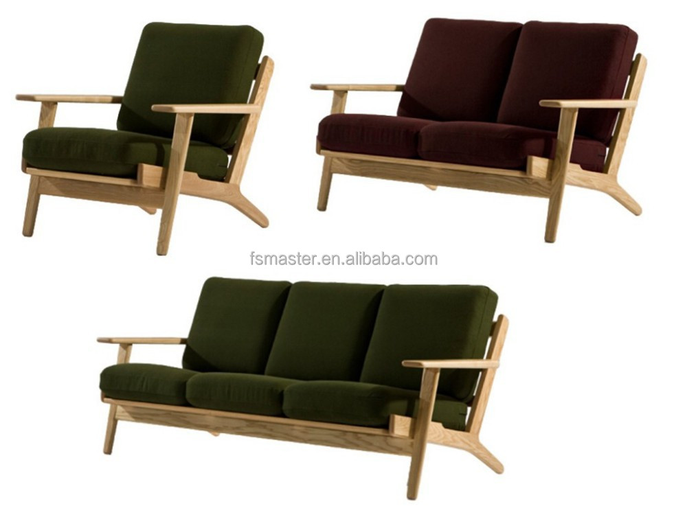 Living Room Furniture Hans Wegner Plank Sofa Wooden Sofa