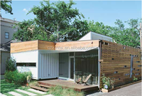 movable family log house -Prefabricated Log Cabins Garden Cottages
