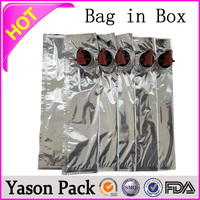 Yason empty fruit juice plastic bag in box red wine bag in box